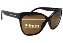 Sunglass Fix Sunglass Replacement Lenses for Dolce & Gabbana DG4114 - 59mm Wide