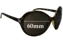 Sunglass Fix Sunglass Replacement Lenses for Dolce & Gabbana DG6006B - 60mm Wide