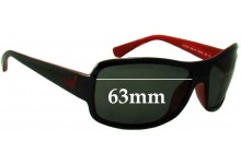 Sunglass Fix Sunglass Replacement Lenses for Emporio Armani EA4012 - 63mm Wide