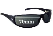 Sunglass Fix Sunglass Replacement Lenses for Emporio Armani EA9164/S - 70mm
