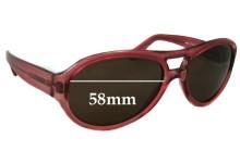 Sunglass Fix Sunglass Replacement Lenses for Fendi Z649 - 58mm Wide