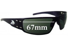 Sunglass Fix Sunglass Replacement Lenses for Gatorz Magnum - 67mm Wide
