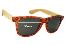 Sunglass Fix Sunglass Replacement Lenses for Gro Collection - 55mm Wide