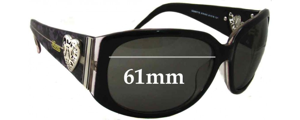Sunglass Fix Replacement Lenses for Gucci GG3077/S - 61mm Wide