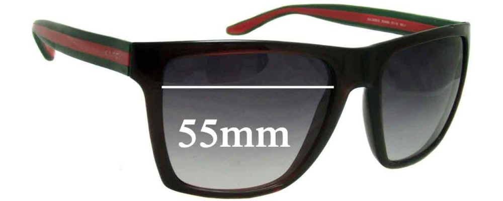 Sunglass Fix Replacement Lenses for Gucci GG3535/S - 55mm Wide