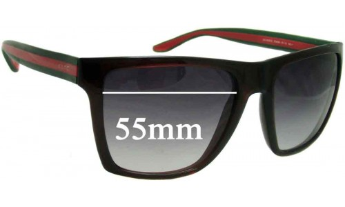 Sunglass Fix Sunglass Replacement Lenses for Gucci GG3535/S - 55mm wide