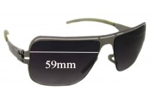 Sunglass Fix Sunglass Replacement Lenses for IC! Berlin Sly - 59mm Wide