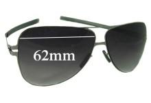 Sunglass Fix Sunglass Replacement Lenses for IC! Berlin Zain - 62mm Wide