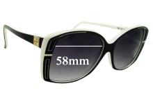 Sunglass Fix Sunglass Replacement Lenses for Jean Patou Paris Ref SP 39 - 58mm Wide
