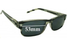 Sunglass Fix Sunglass Replacement Lenses for Mambo Liquid Silver 121030 1005110 - 53mm Wide