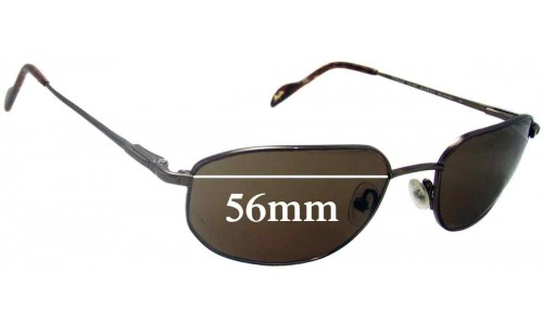 Sunglass Fix Sunglass Replacement Lenses for Maui Jim MJ553 Koa - 56mm Wide