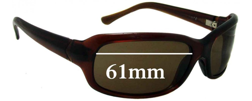 Sunglass Fix Sunglass Replacement Lenses for Maui Jim Lagoon MJ189 - 61mm Wide