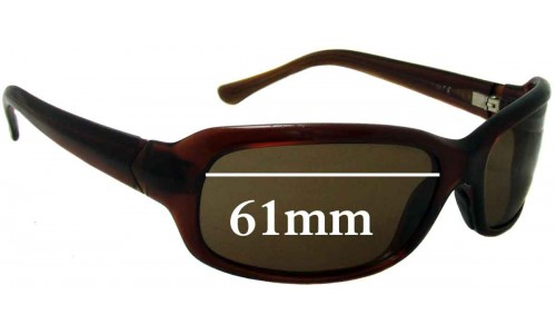 Sunglass Fix Sunglass Replacement Lenses for Maui Jim Lagoon MJ189 - 61mm Wide
