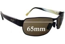 Sunglass Fix Sunglass Replacement Lenses for Maui Jim MJ249 Black Coral - 65mm Wide