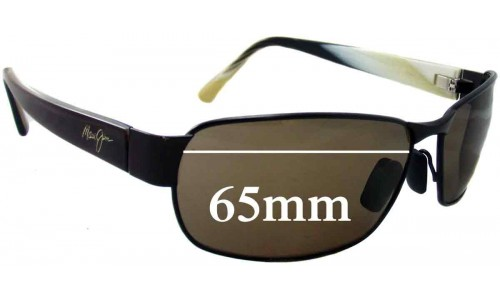 Sunglass Fix Sunglass Replacement Lenses for Maui Jim MJ249 Black Coral - 65mm Wide