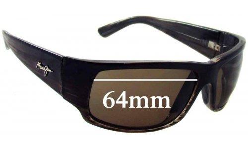Sunglass Fix Sunglass Replacement Lenses for Maui Jim MJ266 World Cup - 64mm Wide