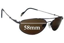 Sunglass Fix Sunglass Replacement Lenses for Maui Jim Molokai MJ308 - 58mm Wide