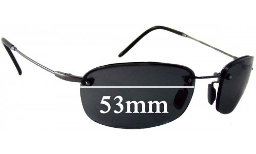 Sunglass Fix Sunglass Replacement Lenses for Maui Jim MJ350 Hula - 53mm Wide