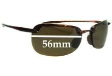Sunglass Fix Sunglass Replacement Lenses for Maui Jim MJ408 Sandy Beach - 56mm Wide