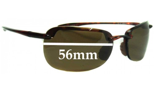 Sunglass Fix Sunglass Replacement Lenses for Maui Jim MJ408 SANDYBEACH - 56mm Wide