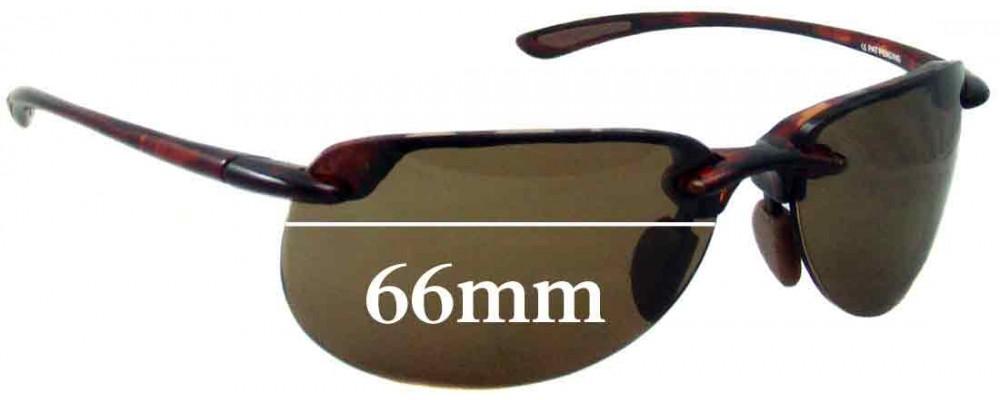 Sunglass Fix Sunglass Replacement Lenses for Maui Jim MJ414 Hapuna - 66mm Wide