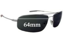 Sunglass Fix Sunglass Replacement Lenses for Mosley Tribes Navigator Aviator - 64mm Wide