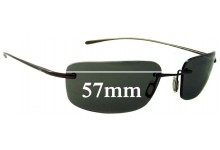 Sunglass Fix Sunglass Replacement Lenses for Nike EV0205 Linear Square - 57mm Wide