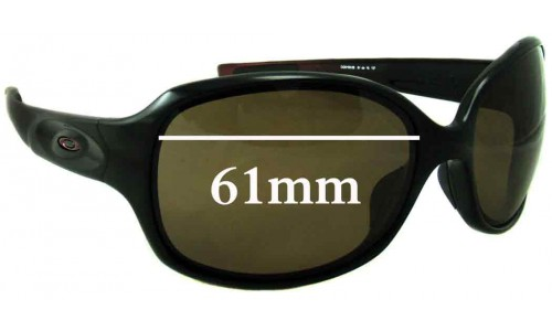 Sunglass Fix Sunglass Replacement Lenses for Oakley Drizzle - 61mm Wide
