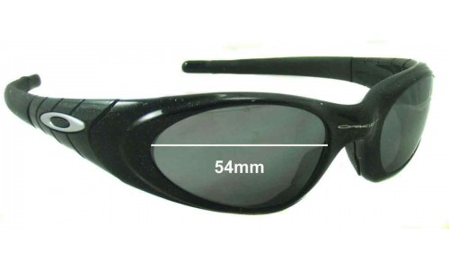 Sunglass Fix Sunglass Replacement Lenses for Oakley Eye Jacket 2.0 - 54mm Wide