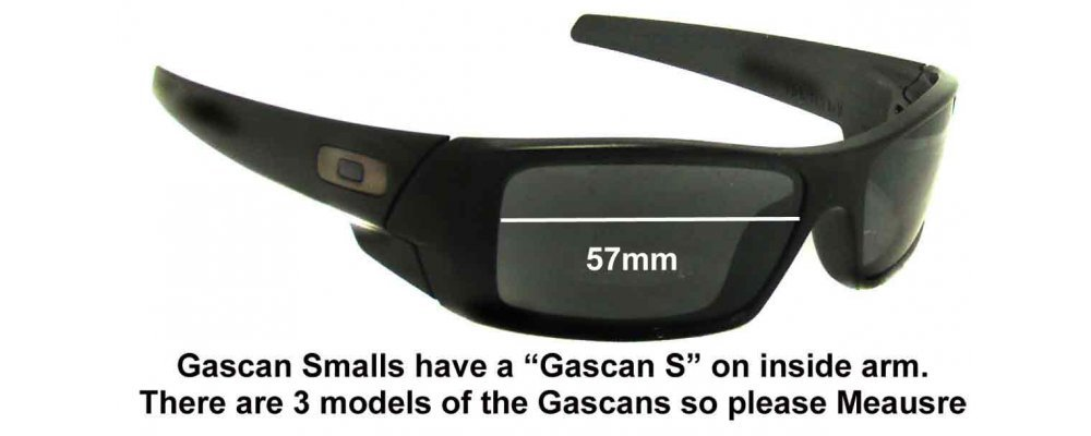 oakley gascan s  Gascan S Sunglass Replacement Lenses 57mm wide