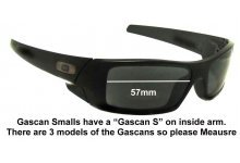 Sunglass Fix Sunglass Replacement Lenses for Oakley Gascan S - 57mm Wide
