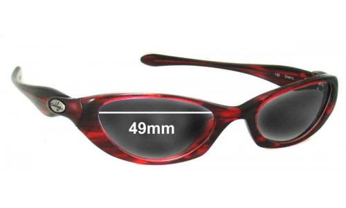 Sunglass Fix Sunglass Replacement Lenses for Oakley Halo - 49mm Wide