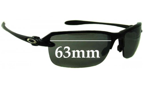 Sunglass Fix Sunglass Replacement Lenses for Oakley Ice Pick - 63mm Wide **Please measure as there are 2 versions. This one has a screw for the lens on the nose area**