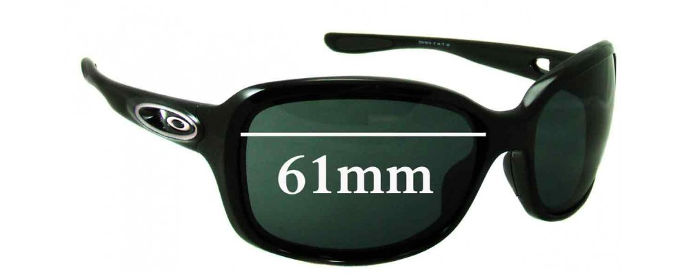 08fa01fa54 Sunglass Fix Sunglass Replacement Lenses for Oakley Urgency - 61mm Wide