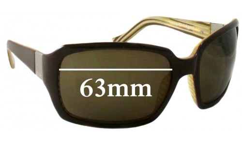 Sunglass Fix Sunglass Replacement Lenses for Otis Lola Bridges - 63mm Wide