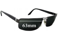 Sunglass Fix Sunglass Replacement Lenses for Persol 2244-S - 63mm Wide