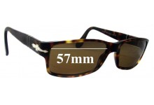 Sunglass Fix Sunglass Replacement Lenses for Persol 2747-S - 57mm Wide