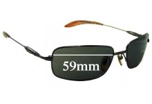Sunglass Fix Sunglass Replacement Lenses for Police Mod 2687 - 59mm Wide