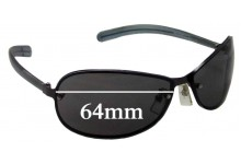 Sunglass Fix Sunglass Replacement Lenses for Police Mod 2877 - 64mm Wide