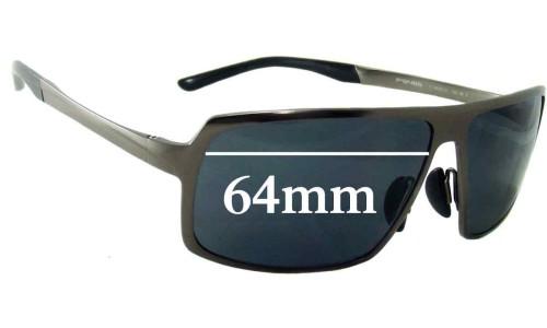Sunglass Fix Sunglass Replacement Lenses for Porsche Design P 8495 - 64mm Wide