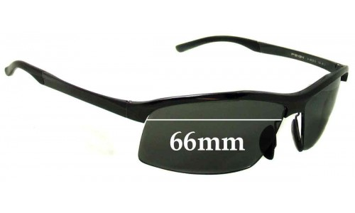 Sunglass Fix Sunglass Replacement Lenses for Porsche Design P 8494 - 66mm Wide   **The Sunglass Fix cannot make lenses for these frames**