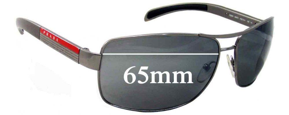 Sunglass Fix Sunglass Replacement Lenses for Prada SPS54I - 65mm Wide