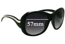 Sunglass Fix Sunglass Replacement Lenses for Prada SPR09L - 57mm Wide