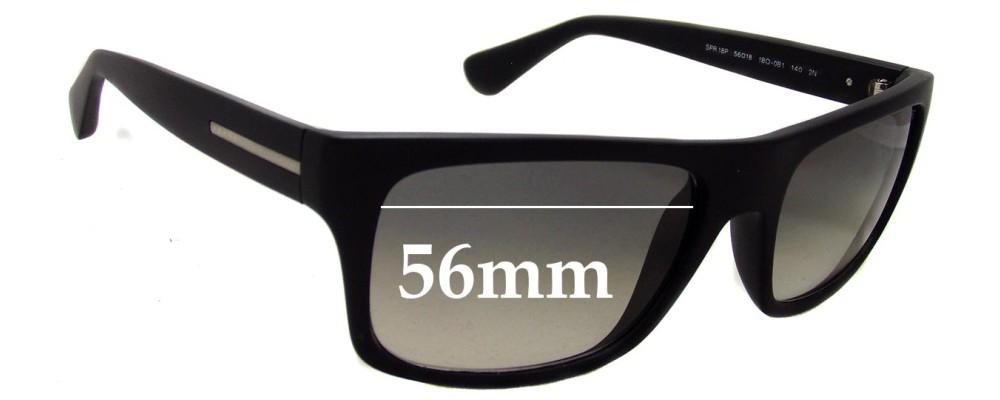 Sunglass Fix Sunglass Replacement Lenses for Prada SPR18P - 56mm Wide