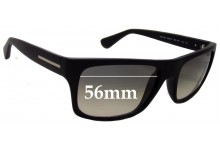 Sunglass Fix Sunglass Replacement Lenses for Prada SPR18P - 56mm Wide