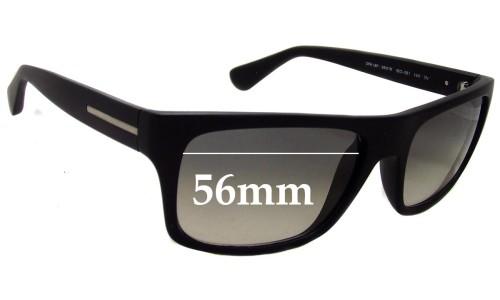 Sunglass Fix Sunglass Replacement Lenses for Prada SPR18P - 56mm wide lens