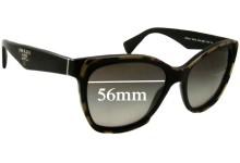 Sunglass Fix Sunglass Replacement Lenses for Prada SPR20P - 56mm Wide