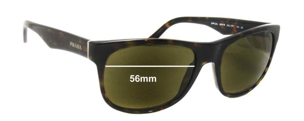 Sunglass Fix Sunglass Replacement Lenses for Prada SPR24L - 56mm Wide