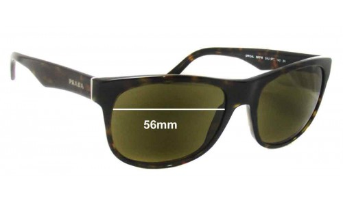 Sunglass Fix Sunglass Replacement Lenses for Prada SPR24L - 56mm wide lens