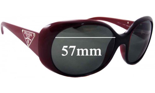 Sunglass Fix Sunglass Replacement Lenses for Prada SPR27L - 57mm Wide